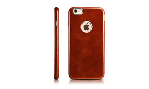 iPhone 6/6S Leather Case Model Transformer Vintage Back Cover Brown