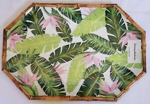 NEW TOMMY BAHAMA TROPICAL PALM BIRD OF PARADISE  11 x 16  MELAMINE PLATTER