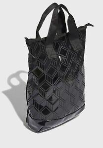 New Adidas 3D Geo Totebag Backpack Issey Miyake style black