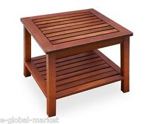Coffee Table Garden Wooden Outdoor Shelf Solid Wood Low Furniture Storage Side