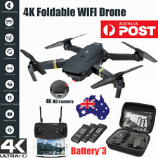 4K HD Drone X Pro WIFI FPV Camera with 3Battery 3D Foldable Selfie Quadcopter AU