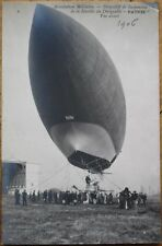 Airship/Dirigible/Blimp 1906 Realphoto French Aviation Postcard: Le Patrie