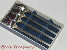 "Raadvad Mid-Century-Modern Set of 4 SS Salad/Desert Fork ""Orion"" by Falle Uldall"