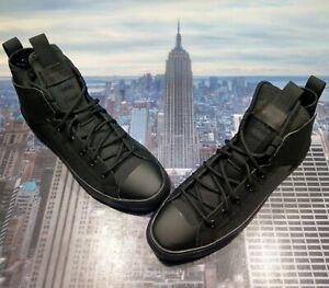 Converse Chuck Taylor All Star Ultra Mid Top Triple Black Mens Size 9.5 162378c