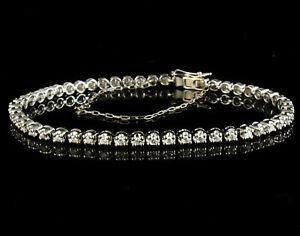 KAYS JEWELERS ROUND CUT NATURAL 1.0ctw DIAMOND WHITE GOLD TENNIS LINE BRACELET