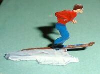 """Vintage Heinrichsen German Flat Lead """"Ski Jumper"""" Near Mint F/S LOT C"""