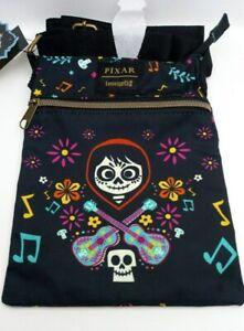 Loungefly Disney Pixar Coco Music Passport Crossbody Bag