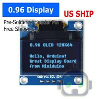 "0.96"" I2C IIC Serial 128X64 128*64 Blue OLED LCD LED Display Module for Arduino"