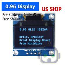 096 I2c Iic Serial 128x64 12864 Blue Oled Lcd Led Display Module For Arduino