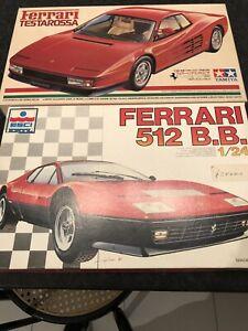 Lotto 2 Kit 1:24 Tamiya Ferrari Testarossa Esci Ertl Ferrari 512 BB