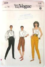 NEW 1980's Very Easy VOGUE #8338 Sewing Pattern Misses' Pants Size 10 UNCUT