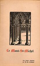 5 bois gravés par Charles Rocher de Gérigné, Mont Saint-Michel,