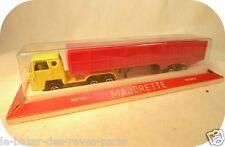 Camion BERNARD maraicher (jaune) MAJORETTE + boite blister