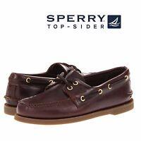Men's Sperry Top-Sider Original A/O 2-Eye Boat Shoes Amaretto Leather All SZ NIB