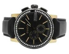 Mens Gucci G-Chrono Gold Black PVD S.Steel 44MM Diamond Watch YA101203 3.0 Ct