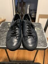 Common Projects Achilles Low Navy Leather Sneaker Size 42