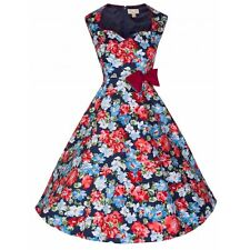 LINDY BOP NEW VINTAGE 50'S STYLE LEDA FLORAL ABSTRACT ROCKABILLY DRESS SIZE 10