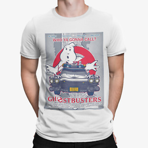 Ghostbusters Car Poster T-Shirt -Retro Film Movie TV Sci Fi Cool Top Tee Gift