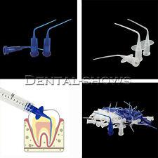 Dental Disposable Irrigation Syringe Endo Oral Tips Plastic Blueclear