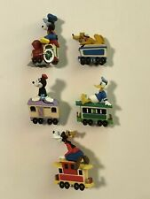 1998 Disney Hallmark Merry Miniatures - Mickey Mouse Express Train Set of 5