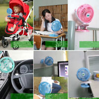 Battery Operated Mini Desk/Clip Fan Portable Electric Fan 360° Rotation