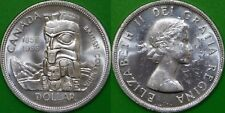 1958 Canada Silver Dollar Graded as Brilliant Uncirculated From Original Roll