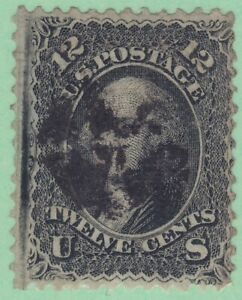 US 97 Used 1868 12¢ Black Washington Strong F Grill Scv $250.00