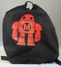 "MAKER FAIRE (MAKE Magazine) Drawstring Backpack With ""Makey"" Logo, Zipper Pocket"