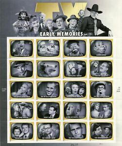 US #4414, 2009 44c Early TV Memories, Pane of 20 MNH