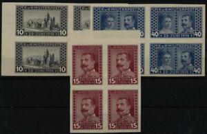 BOSNIA 1917 121-123 4-BLOCK! UNGEZÄHNT! Satz, postfrisch ** KW:520,-€