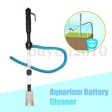 Aquarium Fish Tank Battery Powered Gravel Cleaner Siphon Vacuum Water Changer