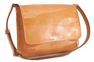 Auth Louis Vuitton Vernis Thompson Street Shoulder Bag Yellow M91008 LV E0480