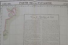 1827 - ARGENTINA - VALDES PENINSULA - PATAGONIA - LARGE  MAP BY VANDERMAELEN