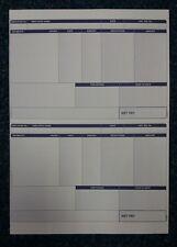 50 SAGE COMPATIBLE PAYSLIPS ON A4 PAPER LASER  INKJET SGE011 (NOT 068021 SE96)