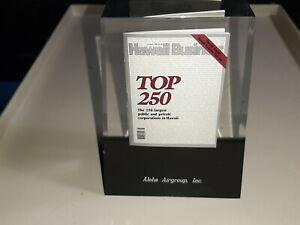 1 OF A KIND - ALOHA AIRLINES - HAWAII TOP 250 BUSINESS TABLE TOP AWARD HAWAIIAN