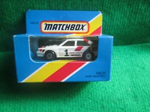 MATCHBOX MB25 AUDI QUATTRO (LOT F35) CAR MINT BOX OPENED