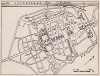 D5278 Planimetria dell'Esposizione Universale di Roma - Mappa - 1938 vintage map