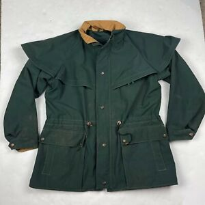 Vintage Outback trading CO vagabond Drovers Coat Size S Green GORE-TEX Jacket
