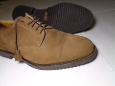Rare Italian Mens Shoes OLIVIER Nubuck Leather  Lace Up  Cap toe shoes Size 13M