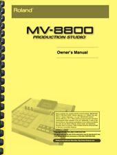 Roland MV-8800 Production Studio OWNER'S MANUAL