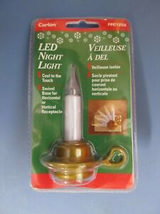 Carlon Christmas LED Candle Night Light Swivel Base  #FPC1255   NEW