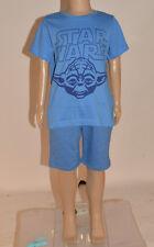 NEW Disney Star Wars Yoda Boys Blue S/S 100% Cotton Tshirt Top Age 1-5 Years A55
