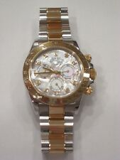 ROLEX 18kt Gold & SS 40mm Daytona White MOP with Diamond Dial 116523