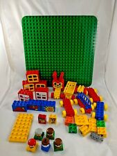 Lego Duplo Train House Square People Specialty Blocks Base Lot