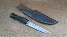 Old Fullered Carbon Steel Thistle-Top Boot/Hunting Knife w/Gerber Leather Sheath