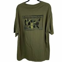 5.11 Tactical Mens XXL Olive Drab Green Logo Cotton Graphic T-Shirt 2 Sided 2XL