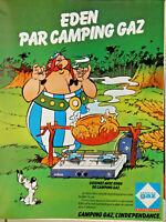 PUBLICITÉ DE PRESSE 1980 EDEN PAR CAMPING GAZ - OBÉLIX ET IDÉFIX