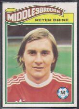 TOPPS-FOOTBALL (ORANGE BACK 1978)-#367- MIDDLESBROUGH - PETER BRINE