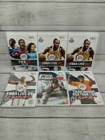 Lot Of 6 Wii Games FIFA, NBA, Tiger Woods, MLB 2K9