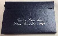 1997 US MINT SILVER PROOF SET - Complete w/ Original Box and COA